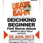 Beats auf der Bahn mit den Beginnern und Fünf Sterne deluxe (Konzert)